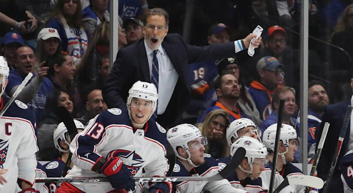 John Tortorella didn't hold back while discussing the departures of Matt Duchene, Sergei Bobrovsky and Artemi Panarin. (Photo by Bruce Bennett/Getty Images)