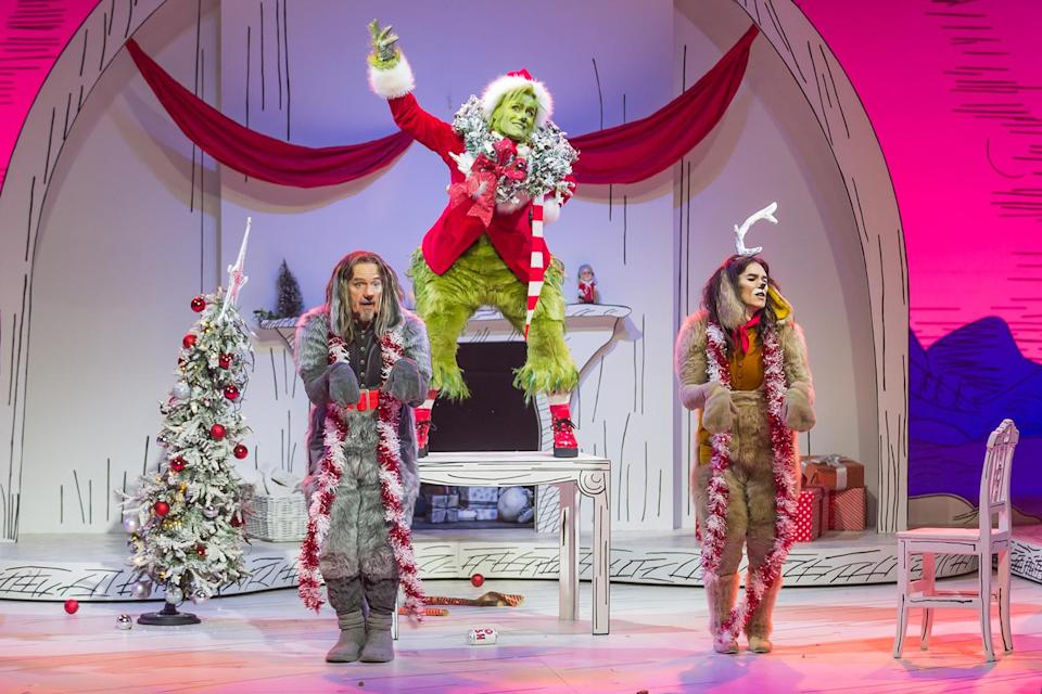 <p>Matthew Morrison goes green for NBC's production of <i>Dr. Seuss' The Grinch Musical</i>, filmed in London and airing on Dec. 9.</p>