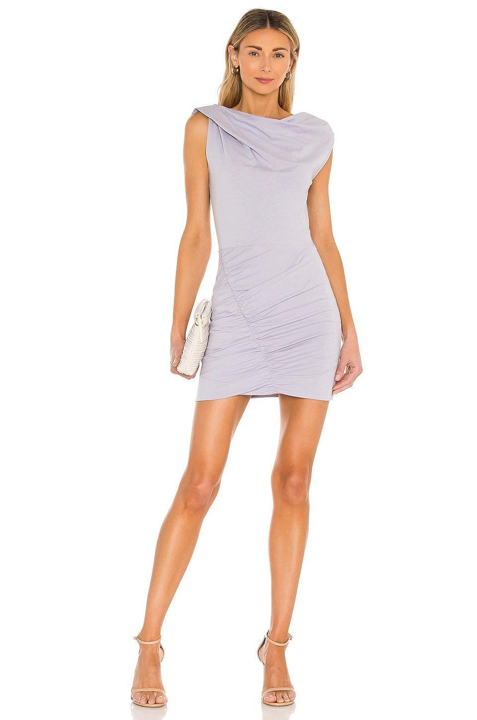 <p>Purple is having a moment, and I am into it. This <span>Iro Tucks Dress</span> ($260) is so fun and still easy to wear.</p>