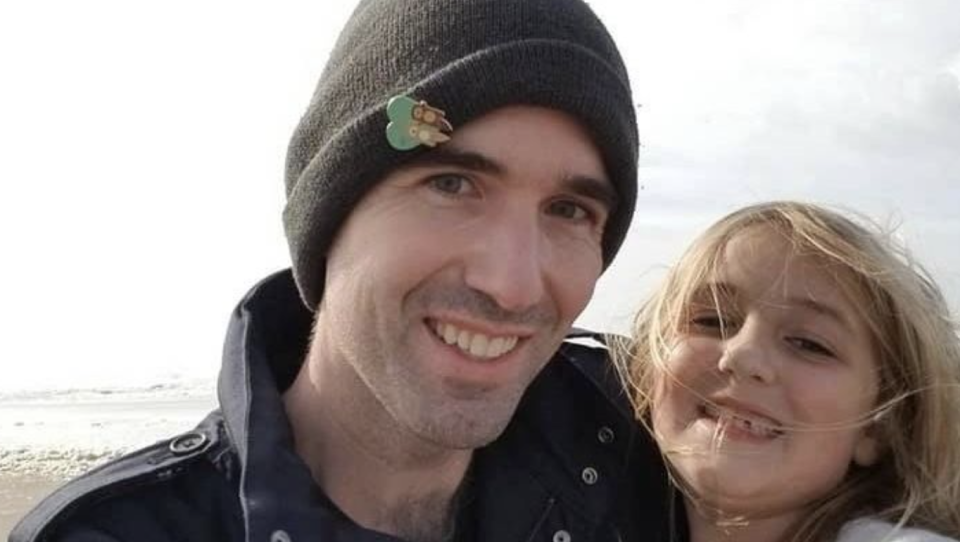 Jeffrey McKnight pictured with his daughter Katherine, 7.