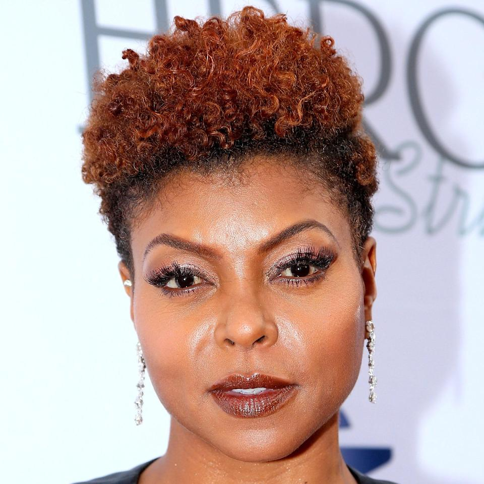 """This fierce style comes in so many variations, but the shape in which Taraji P. Henson is wearing it is what sets it apart. """"The short tapered cut allows easy styling for curls,"""" says Shorter. """"This is great for anyone going for the <a href=""""https://www.allure.com/story/how-to-big-chop?mbid=synd_yahoo_rss"""" rel=""""nofollow noopener"""" target=""""_blank"""" data-ylk=""""slk:big chop"""" class=""""link rapid-noclick-resp"""">big chop</a> not wanting to go <em>too</em> short by keeping length on top."""" She adds that it works best on curls and coils to achieve this height and volume (as opposed to waves which would just lay flat)."""