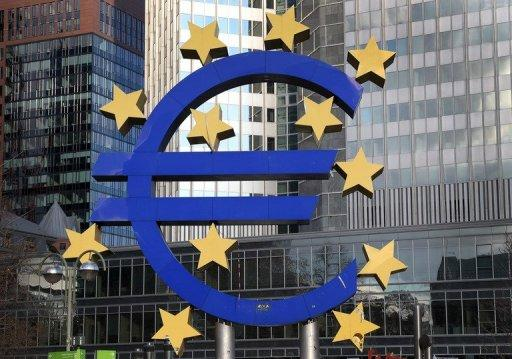 The Euro logo is seen in front of the European Central Bank in Frankfurt/Main, western Germany, on December 6, 2012