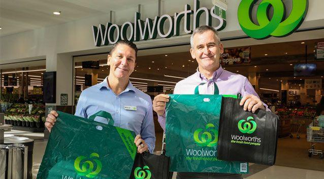 Woolworths chief executive said the group currently gives out more than 3.2 billion lightweight plastic bags a year. Photo: AAP