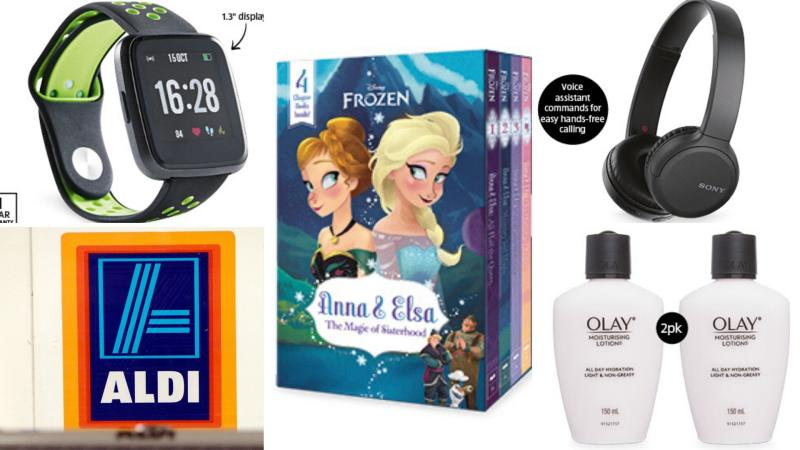 Smartwatch, children's books, headphones and Olay cosmetics on sale as Special Buys at Aldi.
