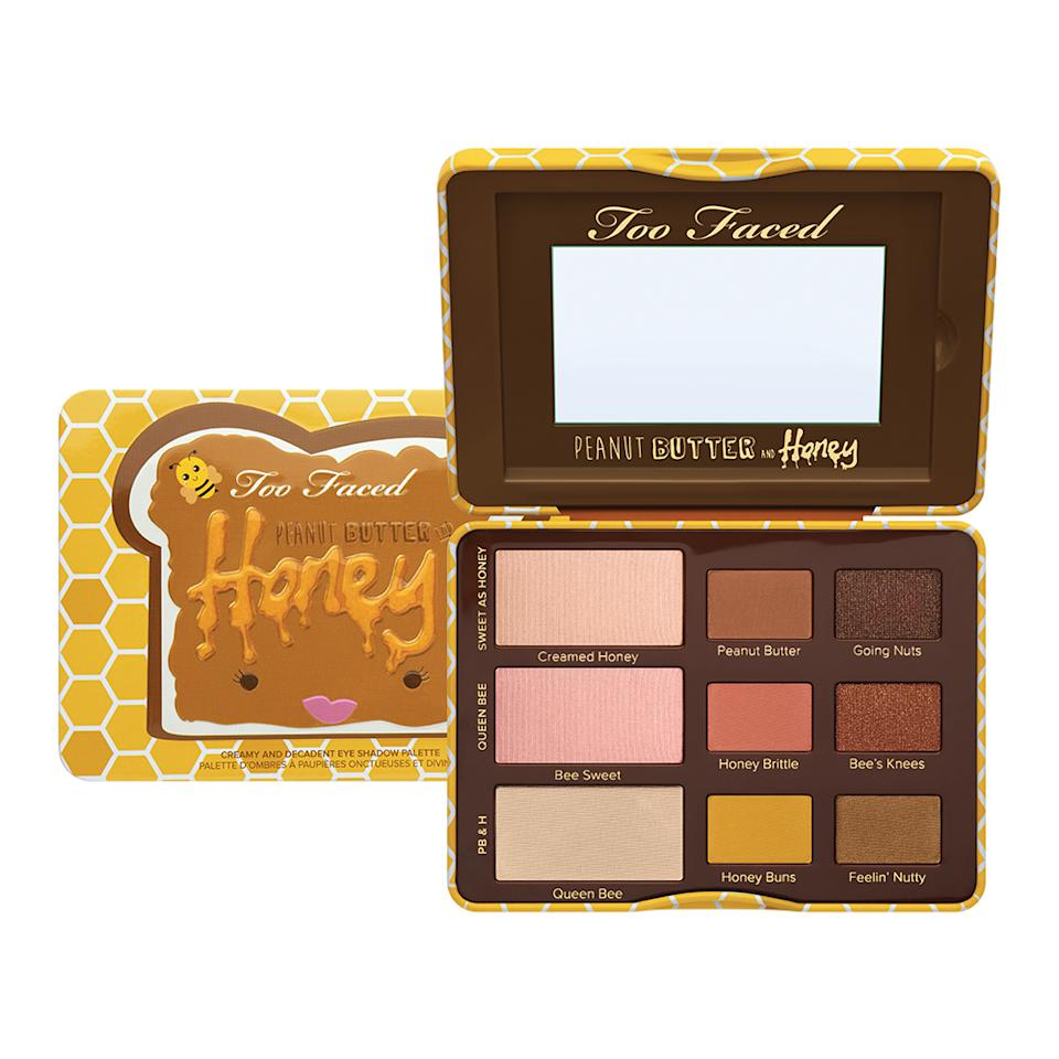 """<p>Inspired by the brand's last Peanut Butter palette, the folks at Too Faced are back with a similar eyeshadow collection of nine beautiful colors suited for all skin tones. The silky shades glide on effortlessly, and the color payoff is rich and pigmented. And yes, the palette smells like a delicious peanut butter and honey treat. ($36, Available March 2017 at <a rel=""""nofollow"""" href=""""http://www.ulta.com/brand/too-faced"""">Ulta.com</a>.) </p>"""