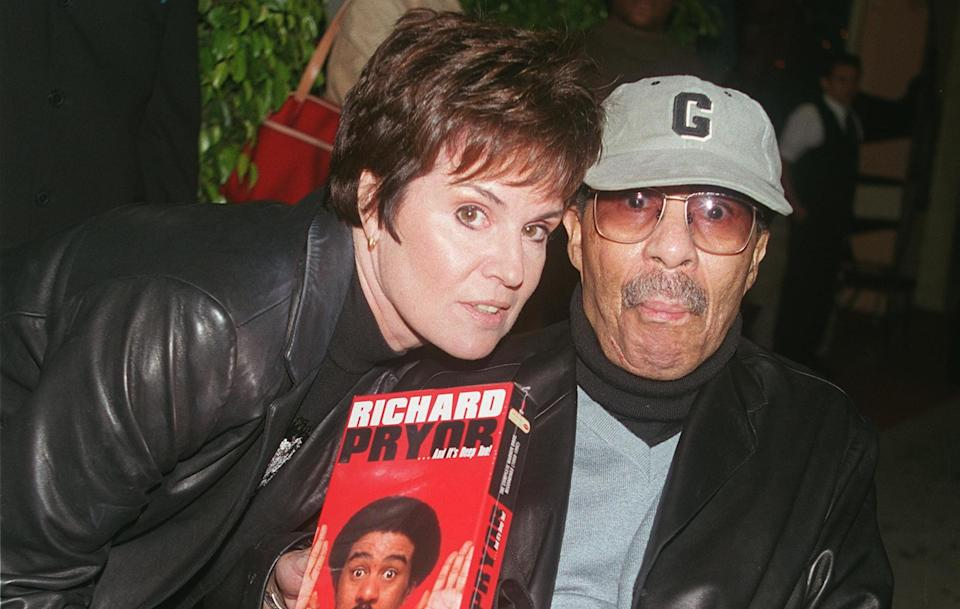 Jennifer Lee Pryor and Richard Pryor at a Laugh Factory event in 2000 (Photo by David Keeler/Liaison/Getty Images)
