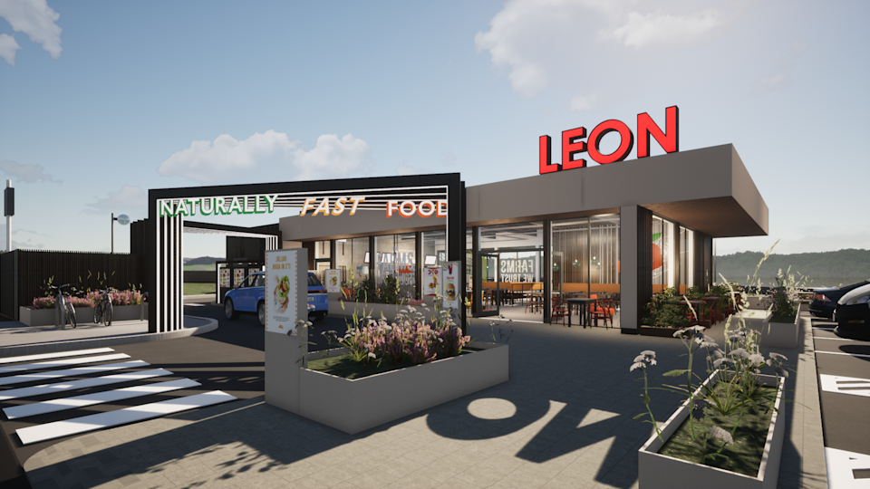 An artist's impression of how the first Leon drive-thru will look