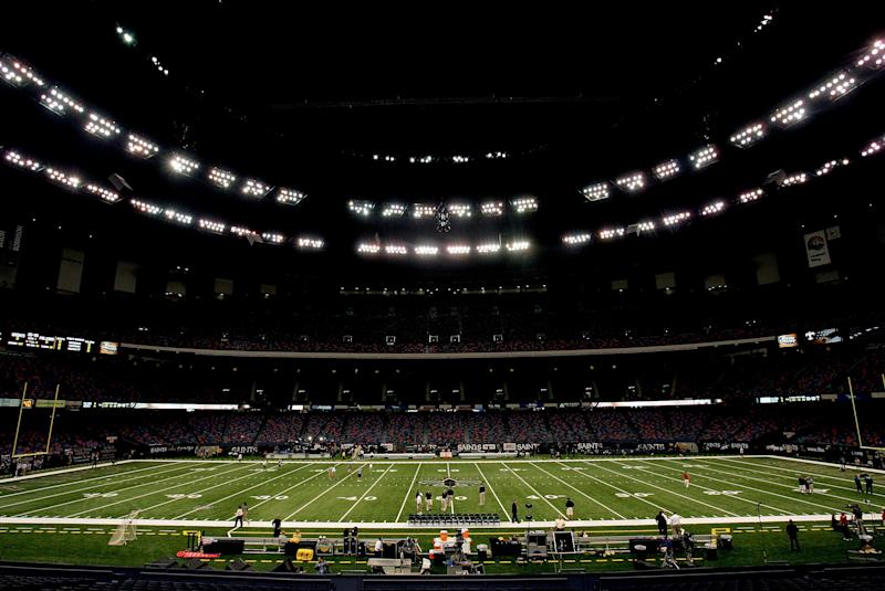 The Mercedes Benz Superdome will undergo about $450 million in renovations beginning in 2020. (Ronald Martinez/Getty Images)