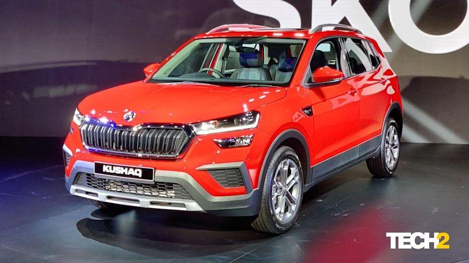 The Skoda Kushaq measures in at 4,225 mm in length, 1,760 mm in width and 1,612 mm in height. Image: Tech2/Amaan Ahmed