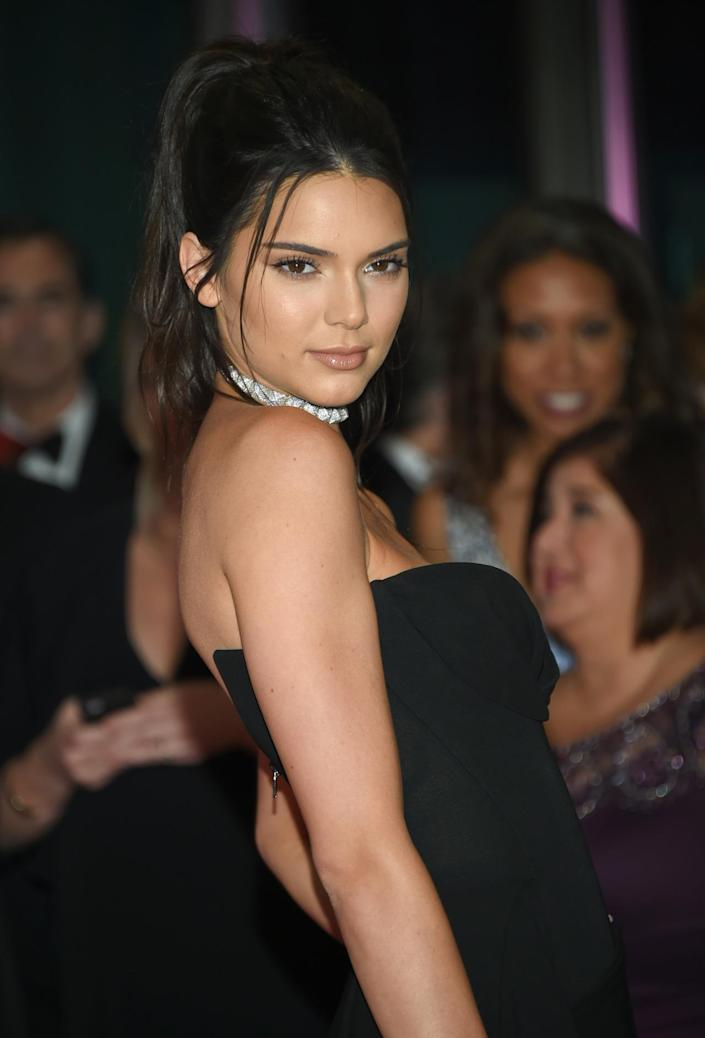 <p>Kendall Jenner arrives at the White House Correspondents' Dinner, April 30. <i>(Photo: Evan Agostini/Invision/AP)</i></p>