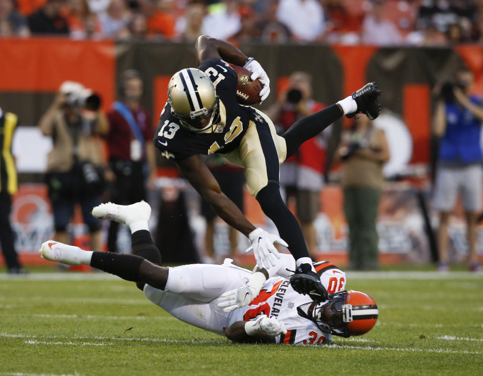 Don't expect a sophomore slump from Michael Thomas, gamers. (AP Photo/Ron Schwane)