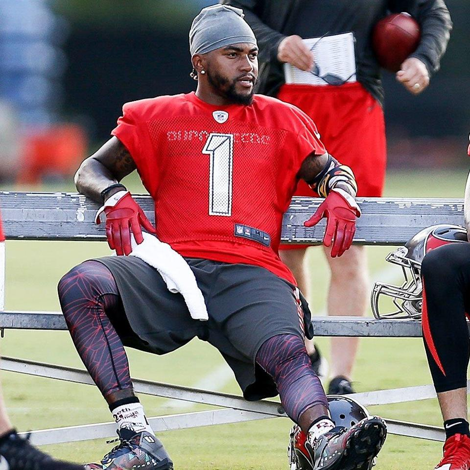 """<p><strong>Position: </strong>Wide receiver<br><strong>Relationship status:</strong> In a relationship<br><strong>What makes him so sexy: </strong>Jackson's son, DeSean Jackson Jr., is his <a rel=""""nofollow noopener"""" href=""""http://www.instagram.com/p/BVf7cJEA2I4/?hl=en&taken-by=0ne0fone"""" target=""""_blank"""" data-ylk=""""slk:number one motivation on the field"""" class=""""link rapid-noclick-resp"""">number one motivation on the field</a>. An athletic dad who's all about his kid? Yep, that guarantees a spot on the sexiest NFL players list. </p>"""