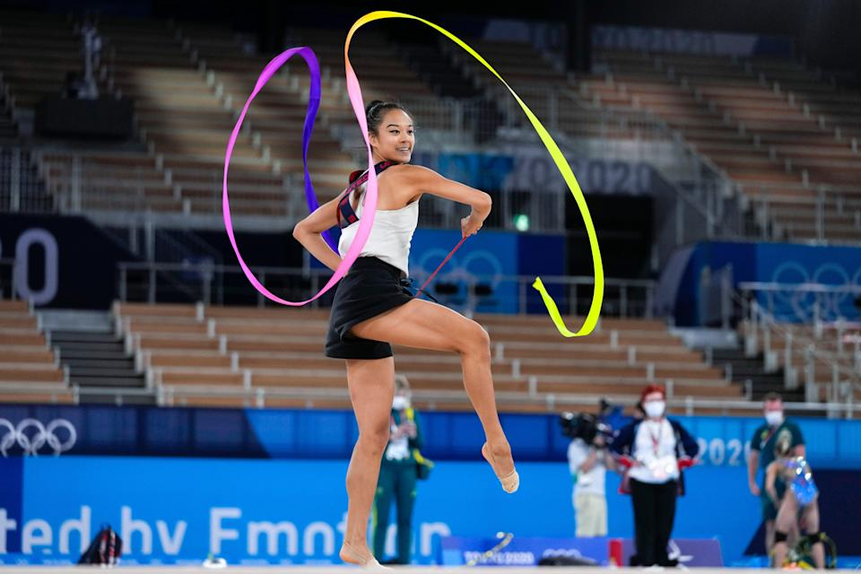 Tokyo Olympics Rhythmic Gymnastics (Copyright 2021 The Associated Press. All rights reserved)