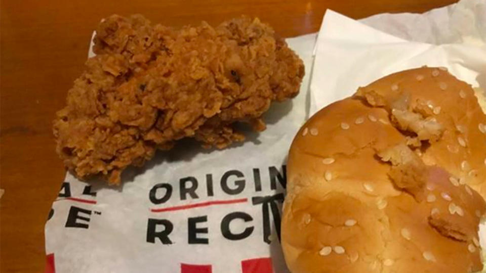 Rosie says KFC did not explain how the bug might have got into the food. Source: Supplied