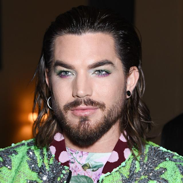 Adam Lambert's eye makeup nearly upstaged the incredible Libertine outfit he wore to the brand's fall 2019 show in Los Angeles. Under Lambert's practically perfect bold brows with an enviable arch, he wore an unexpected yet incredible combination of eye shadow shades: fuchsia smudged below his lower lashes and a shimmering lime on his lids and into the inner corners. A generous dose of shimmer makes it hard to take your eyes off of his.