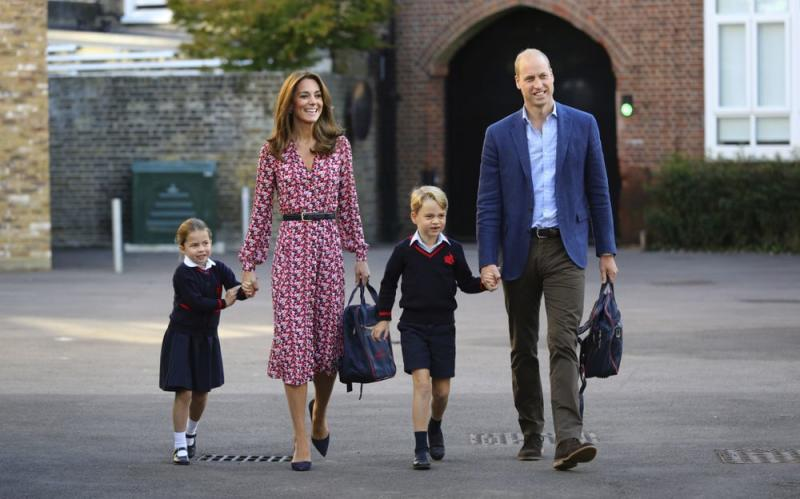 Princess Charlotte, Kate Middleton, Prince George nd Prince William | Press Association via AP Images