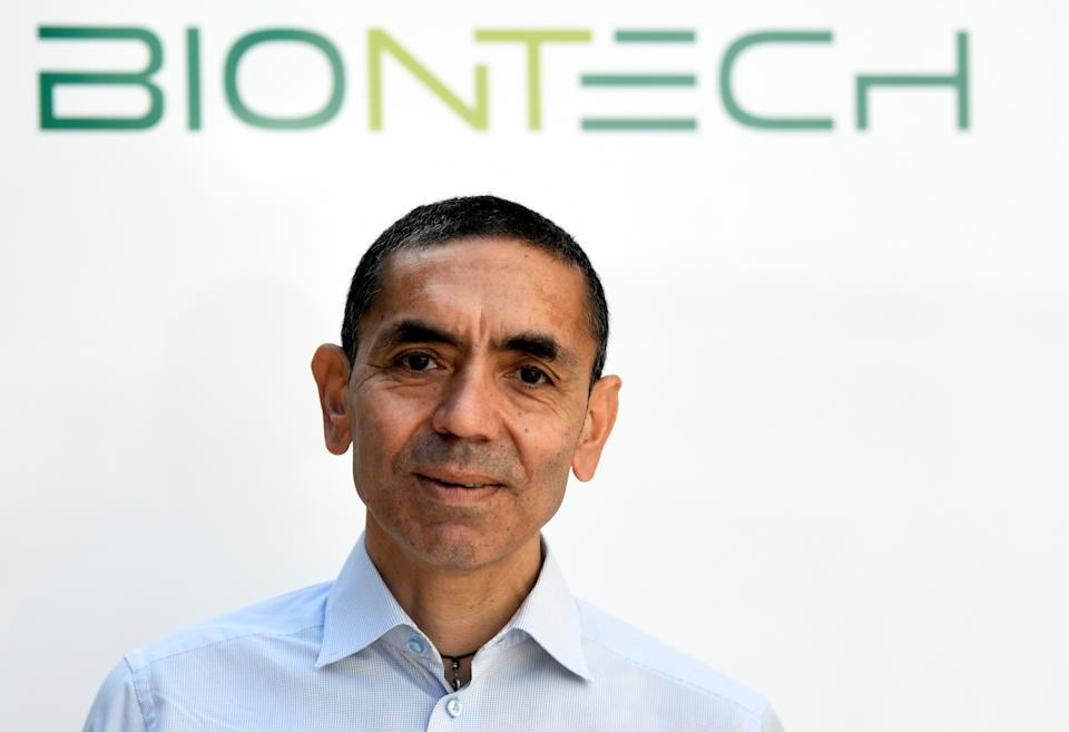 Ugur Sahin, CEO and co-founder of German biotech firm BioNTech, is interviewed by journalists in Marburg, Germany September 17, 2020. REUTERS/Fabian Bimmer