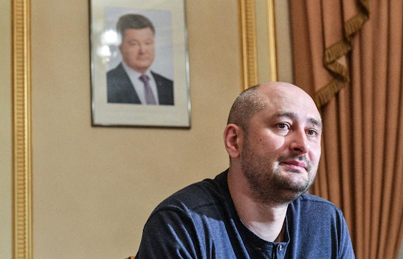 Arkady Babchenko left Russia in 2017 living first in the Czech Republic, then Israel, before moving to Kiev (AFP Photo/GENYA SAVILOV)
