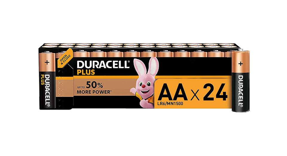 Duracell Plus AA Alkaline Batteries [Pack of 24]