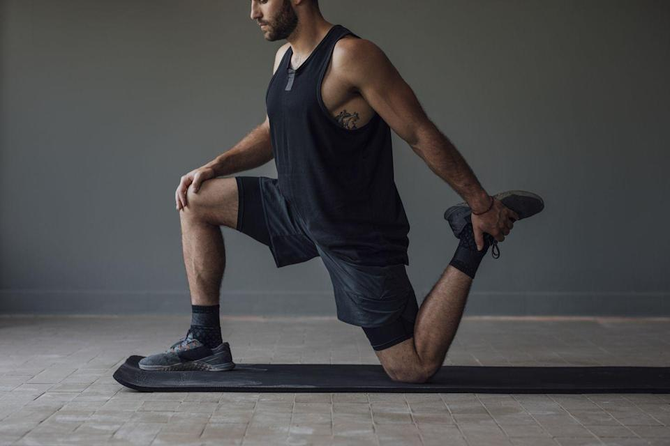 """<p><strong>You'll need: Floor space</strong></p><p>In this workout, you're going to be working in an EMOM format (every minute on the minute), performing all three movements at the top of each minute, only stopping when you can no longer fit all 18 reps into 60 seconds... or you give up. Will you keep swinging, or get hit with a TKO?</p><p>""""There's two tactics here, you can either go all in and hope you can recover in time for the next minute,"""" says Men's Health fitness editor <a href=""""https://www.instagram.com/theandrew.tracey/"""" rel=""""nofollow noopener"""" target=""""_blank"""" data-ylk=""""slk:Andrew Tracey"""" class=""""link rapid-noclick-resp"""">Andrew Tracey</a>. """"Or you can pace yourself, taking you closer to the buzzer but with more gas left in the tank. Your ability to recover is going to be put to the test here.""""Make a note of the final round you complete and attempt to bet it on subsequent attempts to track your progress. If you ever want to do it again, that is.</p><p><strong><br>Burpee x 3 reps<br></strong>Drop the hammer right from the go with everyone's 'favourite' movement. Assume a press-up position. Lower your chest to the ground, pause then push away explosively, hop your legs back in and jump into the air explosively. Land and repeat.<br><br><strong>Push-up x 6 reps<br></strong>Assume a long arm plank position, with your core tight and your hands below your shoulders, bend your elbows to bring your chest to the floor. Keep your elbows close to your body as you push back up explosively.<br><br><strong>Prisoner squat x 9 reps<br></strong>Stand with your torso upright and your hands on your head, drop your hips back to sink into a deep squat. Hold for a second, before pressing through your heels to stand up, repeat.</p>"""