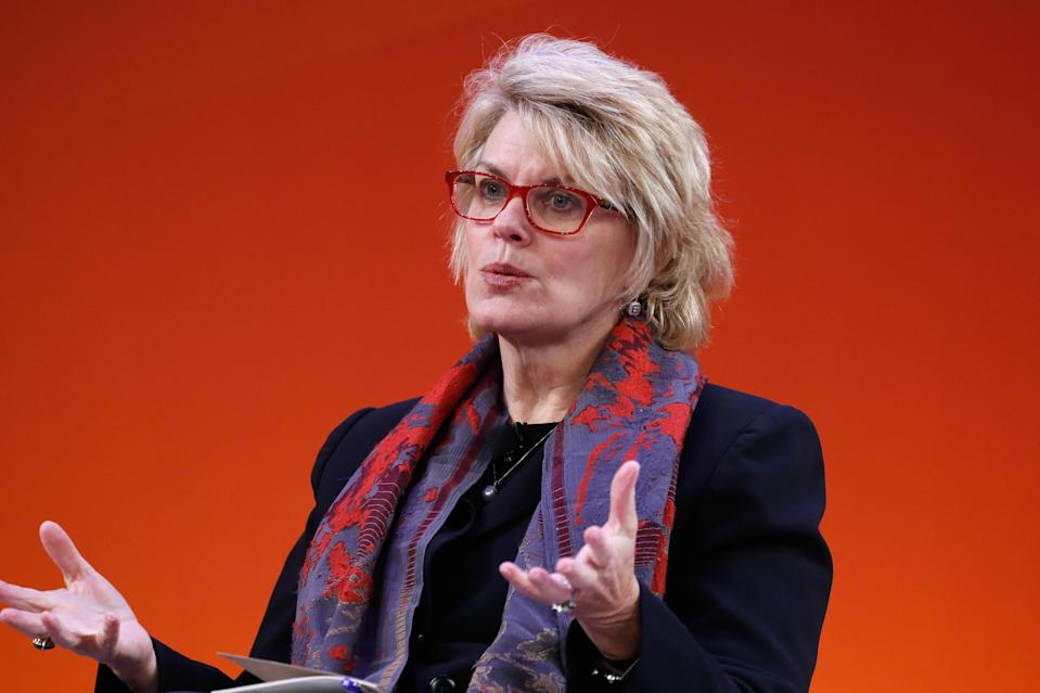 Anne Finucane speaks onstage at the Bloomberg C-Suite Conversation on the Times Center Stage during 2016 Advertising Week New York on September 29, 2016 in New York City. (Photo by John Lamparski/Getty Images for Advertising Week New York)