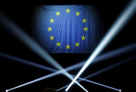 FILE PHOTO: A European flag is seen ahead of the start of a political rally of the Renaissance (Renewal) list for the European elections in Strasbourg, France, May 11, 2019.   REUTERS/Vincent Kessler/File Photo