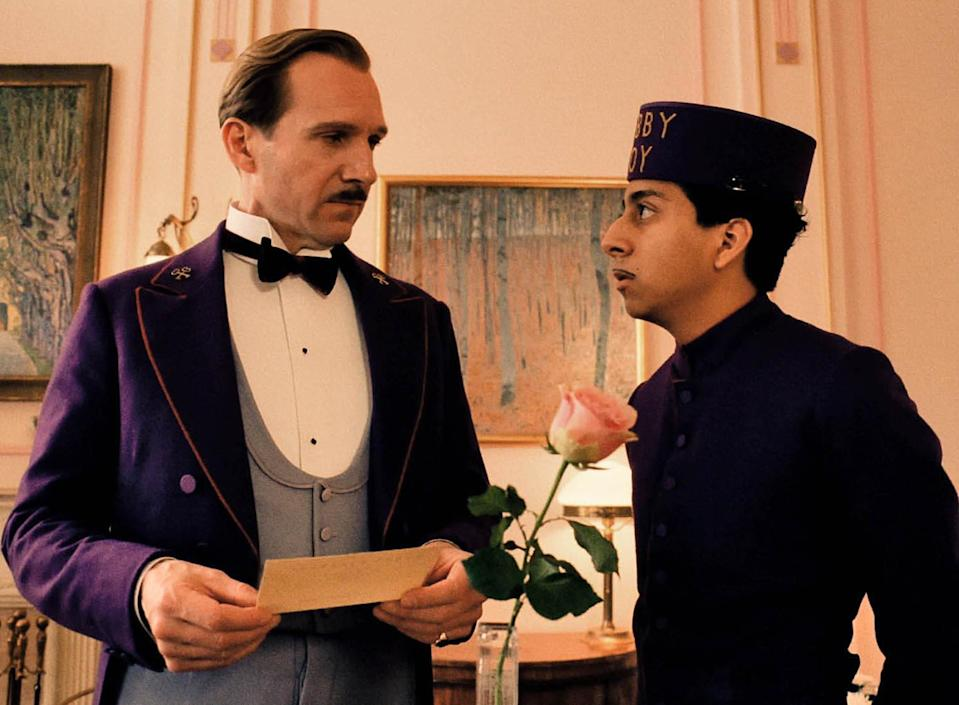 Ralph Fiennes played the lothario to octogenarians, Monsieur Gustave, in 'The Grand Budapest Hotel'20th Century Fox/Kobal/Shutterstock