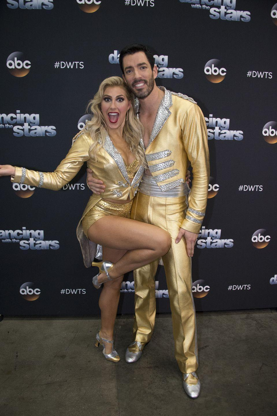 "<p>During a camera blocking rehearsal in season 25, the <em>Property Brothers</em> star injured his hamstring, which almost kept him from dancing. ""I can't do a full lunge, but luckily tonight I didn't have to do that,"" he told <em><a href=""https://people.com/tv/dwts-property-brothers-drew-scott-injury-spray-tan-mishap-interview/"" rel=""nofollow noopener"" target=""_blank"" data-ylk=""slk:People"" class=""link rapid-noclick-resp"">People</a></em>. ""The quickstep was staying tall and staying on my toes. But for the rumba tomorrow, I'm going to be working on my hamstring all tonight and tomorrow. I don't want it to slow me down.""</p><p>Drew was able to perform his quickstep and the rumba, and continued with the competition the following week. He dropped more than 30 pounds along the way, too.</p>"