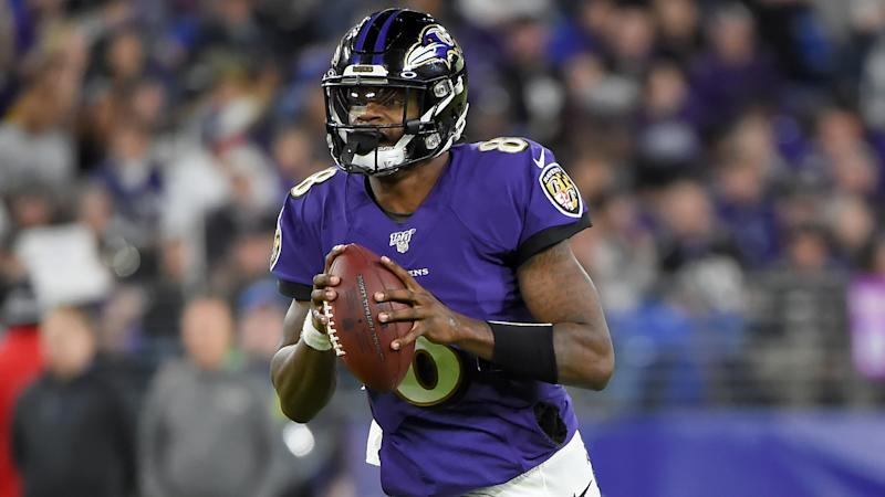 Lamar Jackson is still in disbelief over the Baltimore Ravens' elimination from the playoffs. (Will Newton/Getty Images)