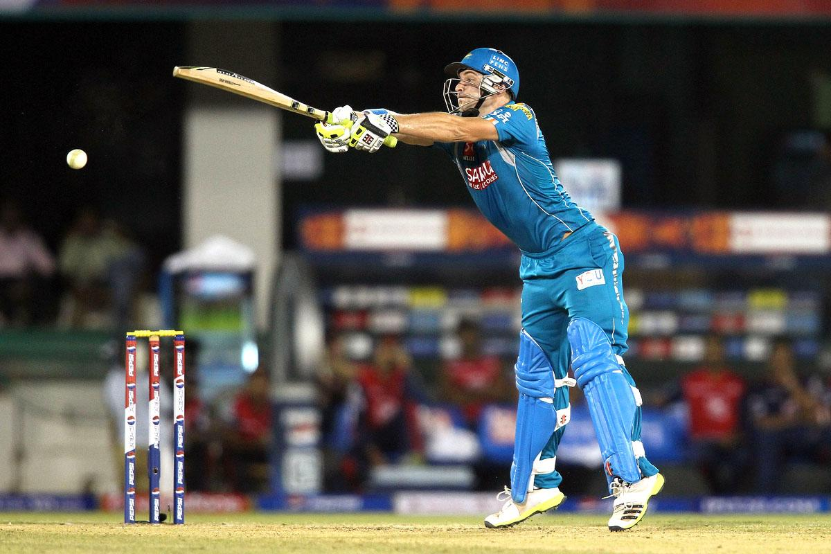 Luke Wright of Pune Warriors India cuts a delivery square during match 39 of the Pepsi Indian Premier League between The Delhi Daredevils and the Pune Warriors India held at the Chhattisgarh International Cricket Stadium in Raipur on the 28th April 2013. (BCCI)