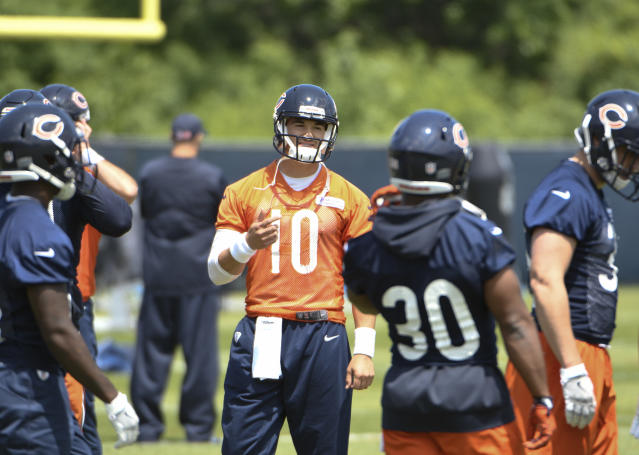 Chicago Bears quarterback Mitchell Trubisky looks to take the next step in his second season. (AP)