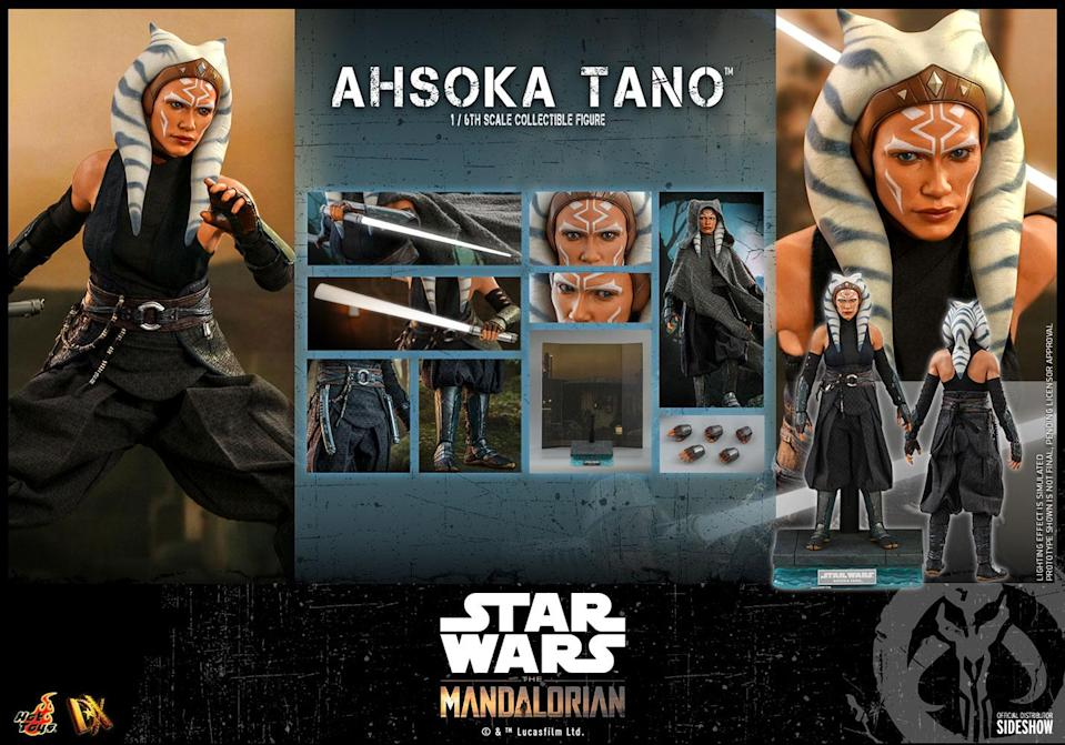 The Ahsoka 1/6 scale figure from Hot Toys bears a stunning resemblance to Rosario Dawson.
