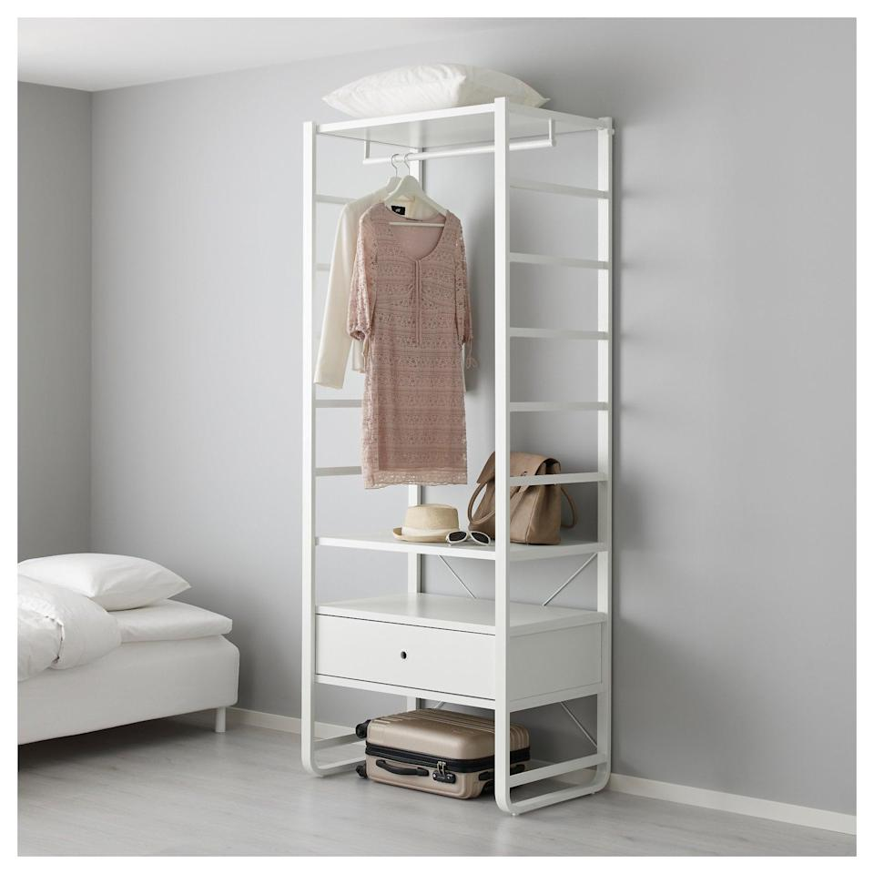 <p>The durable shelves on the <span>Elvarli Shelf Unit</span> ($235) can handle all of your shoes and clothing accessories. </p>