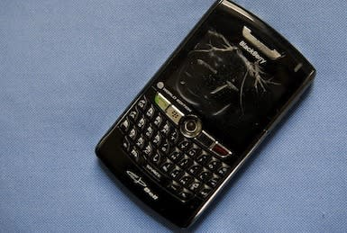 Broken BlackBerry
