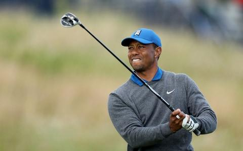<span>Woods finished seven-over after a tough opening day</span> <span>Credit: Getty Images </span>