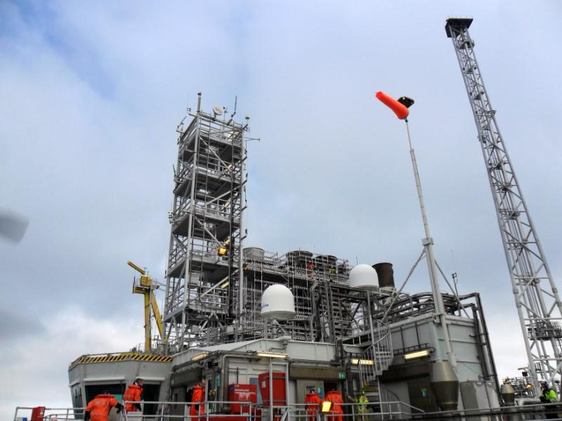 FILE PHOTO: A general view of the offshore Kristin oil and gas platform in the North Sea