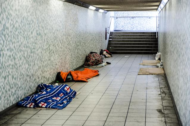 Homelessness in the UK has rise 28 percent in just one year (GETTY)