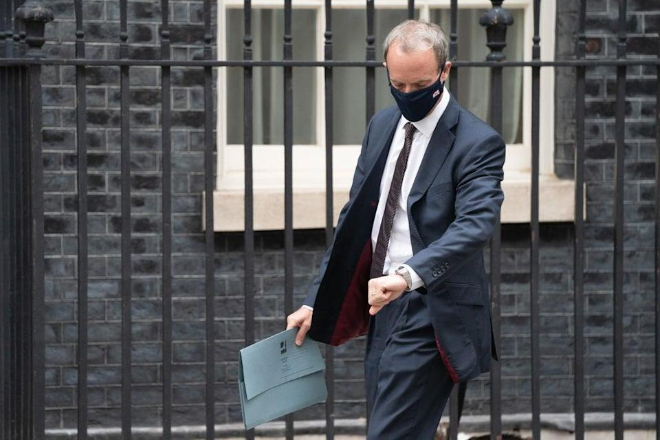Foreign Secretary Dominic Raab was facing further criticism over his decision to go on holiday while the Taliban was advancing in Afghanistan (Stefan Rousseau/PA) (PA Wire)
