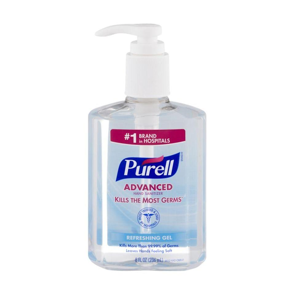 """<p><strong>Purell</strong></p><p>instacart.com</p><p><strong>$4.59</strong></p><p><a href=""""https://go.redirectingat.com?id=74968X1596630&url=https%3A%2F%2Fwww.instacart.com%2Fproducts%2F16696721-purell-advanced-hand-sanitizer-refreshing-gel-8-fl-oz&sref=https%3A%2F%2Fwww.bestproducts.com%2Fbeauty%2Fg33277172%2Fbest-hand-sanitizers%2F"""" rel=""""nofollow noopener"""" target=""""_blank"""" data-ylk=""""slk:Shop Now"""" class=""""link rapid-noclick-resp"""">Shop Now</a></p><p>Purell is a household name that you probably already know and trust, so you can depend on it to help your family get through this pandemic safely. This hand sanitizer may not smell luxurious, but it <em>will</em> kill 99.99% of illness-causing germs with every pump. After all, isn't that what really counts?</p><p><strong>More: </strong><a href=""""//www.bestproducts.com/lifestyle/g26040365/products-for-the-germaphobe/"""" data-ylk=""""slk:These Genius Products for Germaphobes Will Rid any Surface of Icky Substances"""" class=""""link rapid-noclick-resp"""">These Genius Products for Germaphobes Will Rid any Surface of Icky Substances</a></p>"""