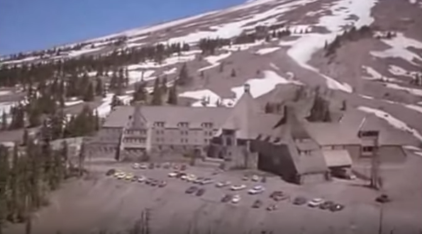 The Timberline Lodge in Mount Hood, Ore., as the exterior of the Overbrook Hotel in 'The Shining'