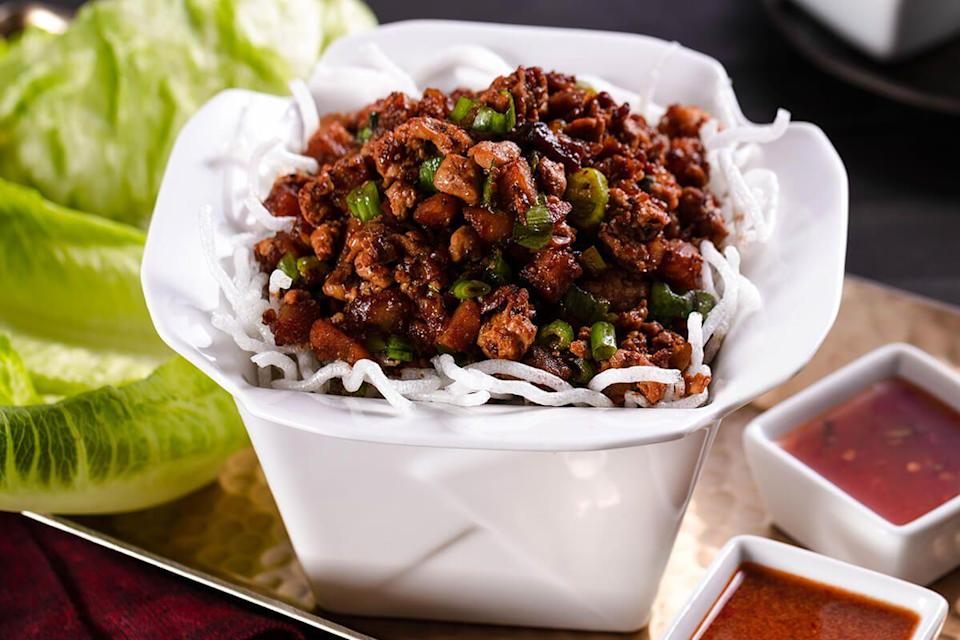 "<p>This chain consistently delivers elevated dishes and is always reinventing their menu. But don't forget to try the OG classic, the Chicken Lettuce Wraps, which are so good we recreated them<a href=""https://www.delish.com/cooking/recipe-ideas/recipes/a49533/asian-lettuce-wraps-recipe/"" rel=""nofollow noopener"" target=""_blank"" data-ylk=""slk:here"" class=""link rapid-noclick-resp""> here</a>.</p>"