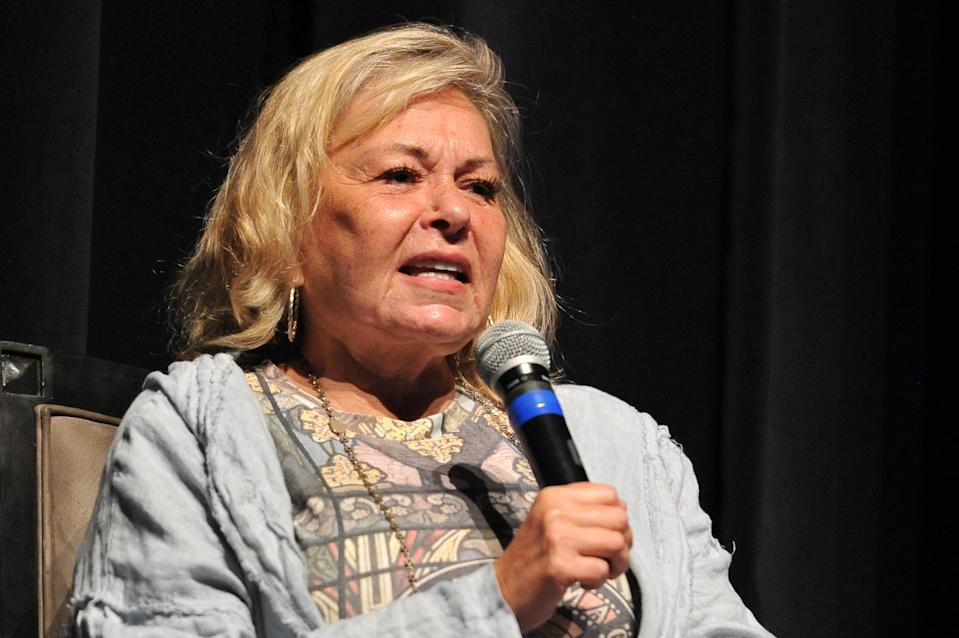 """Roseanne Barr participates in """"Is America a Forgiving Nation?"""" — a Yom Kippur eve talk on forgiveness in September 2018. (Photo: Rachel Luna/Getty Images)"""