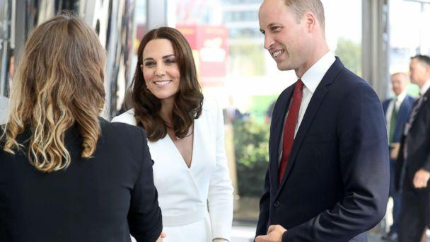 PHOTO: Catherine, Duchess of Cambridge and Prince William arrive to meet young entrepreneurs during a reception at the Heart, Spire Building on day 1 of their official visit to Poland on July 17, 2017 in Warsaw, Poland. (Chris Jackson/Getty Images)
