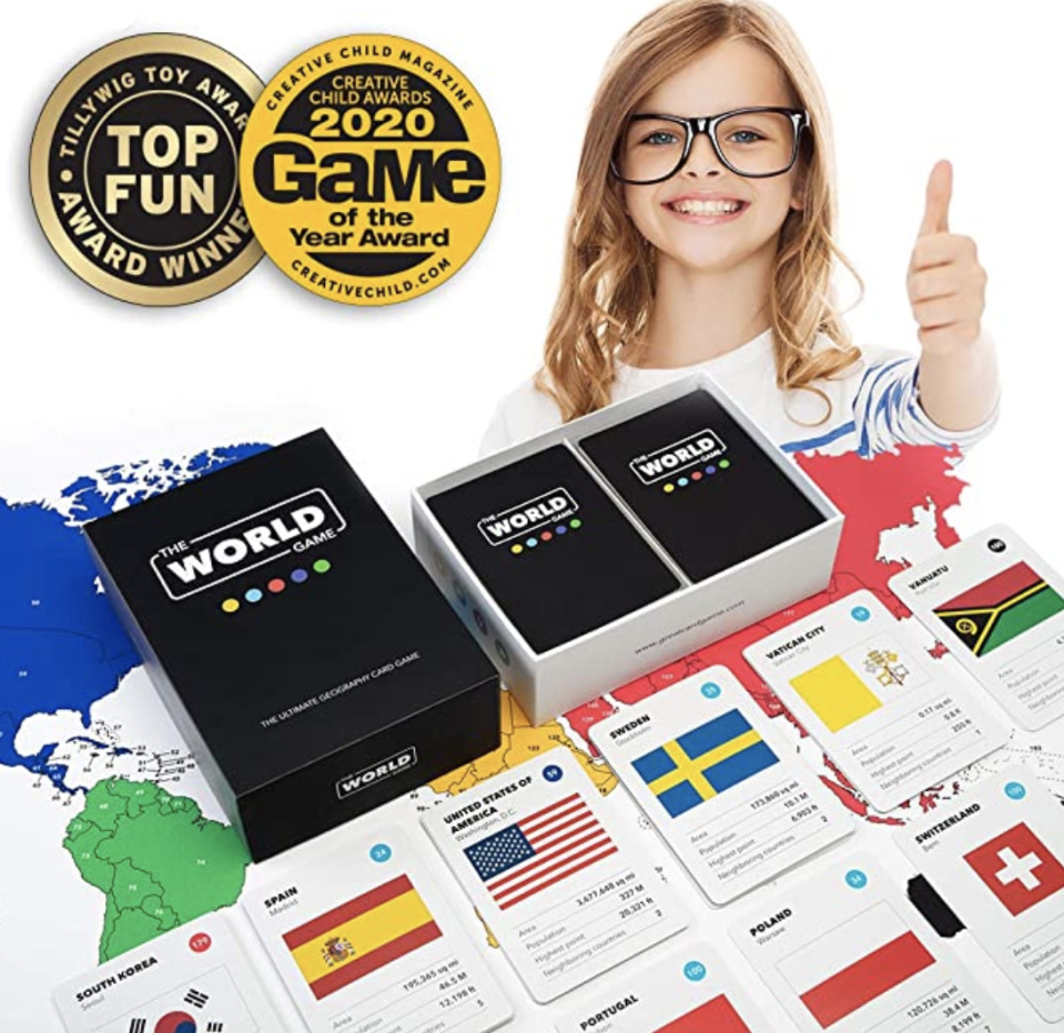 The World Game, geography card game. PHOTO: Amazon