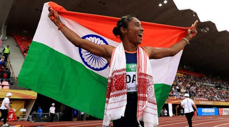 Hima Das won first ever gold in track event for India
