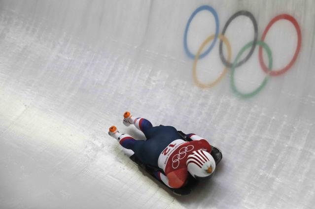 Skeleton - Pyeongchang 2018 Winter Olympics – Women's Finals - Olympic Sliding Center - Pyeongchang, South Korea – February 17, 2018 - Katie Uhlaender of U.S. in action. REUTERS/Arnd Wiegmann