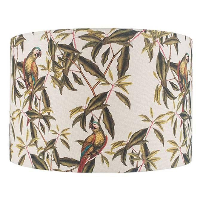 """<p>The soft natural linen on this lampshade is the perfect base for its bold motif, filled with dreamy illustrations of colourful parrots and tropical plants. The open weave fabric creates a soft glow – great for a bedroom. <br></p><p><strong>Shop now: <a href=""""https://www.laredoute.co.uk/ppdp/prod-350183790.aspx#shoppingtool=treestructureflyout"""" rel=""""nofollow noopener"""" target=""""_blank"""" data-ylk=""""slk:Jenny Worrall Parrot Linen Shade at La Redoute"""" class=""""link rapid-noclick-resp"""">Jenny Worrall Parrot Linen Shade at La Redoute</a></strong></p>"""
