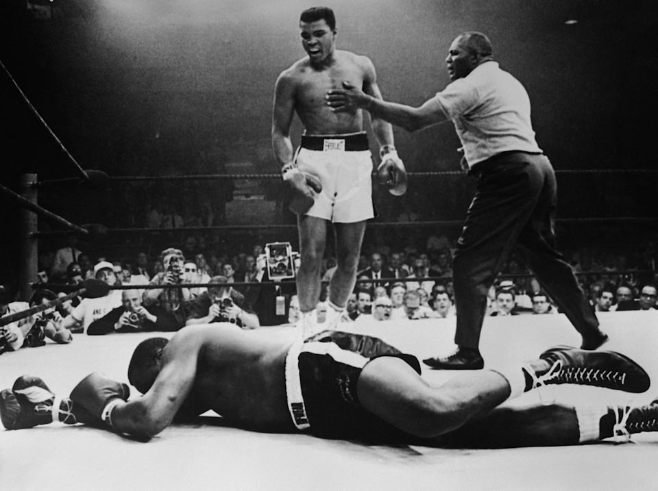 Muhammad Ali twice stopped Sonny Liston: Getty