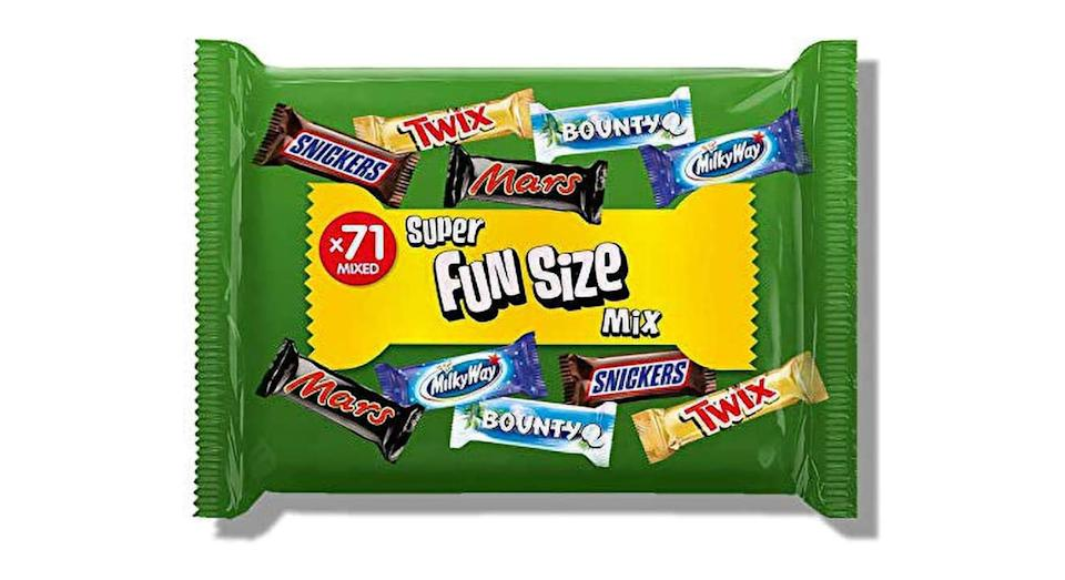 Mars, Snickers, Twix and More Assorted Fun Size Chocolate Bars, Halloween Party Bag Fillers, 1.4 kg