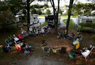 """As """"Nomadland"""" won big at the Oscars, women connected by their shared enthusiasm for RVs gathered for a weekend at the Ramblin Pines campsite in Woodbine, Maryland"""